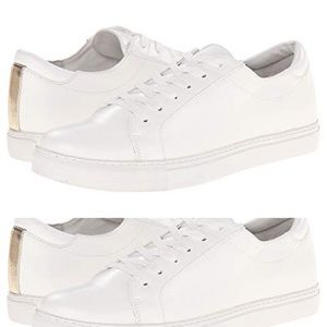 Kenneth Cole | White leather KAM sneakers
